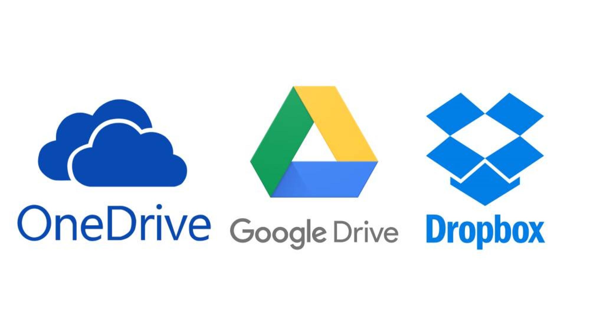 OneDrive-Google Drive-Dropbox